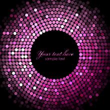 Vector Pink Disco Lights On Black Background