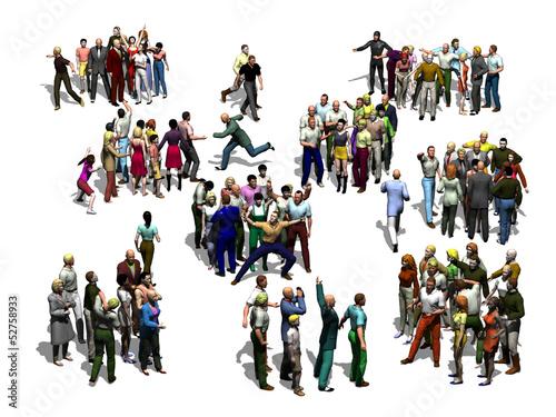 Fotografie, Obraz  groups of people