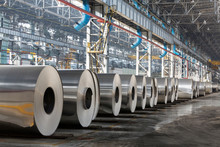 Row Of Rolls Of Aluminum Lie I...