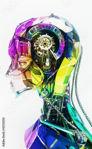 Fotografie, Obraz  Cyborg, robot, Androide volto, crash test, informatica, computer