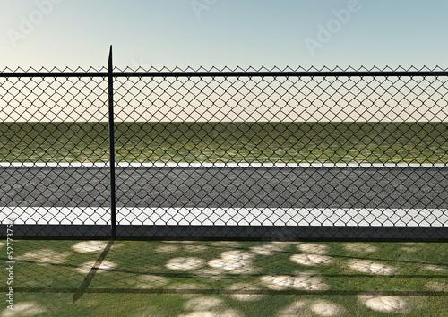 Rete recinzione metallica proprietà Wallpaper Mural