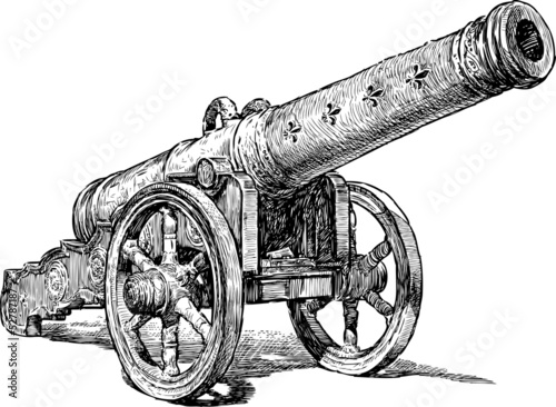Photo medieval cannon