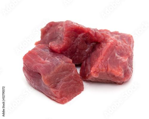 Keuken foto achterwand Vlees pieces of fresh beef