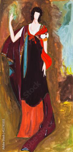 Nowoczesny obraz na płótnie Irish lady on the walk