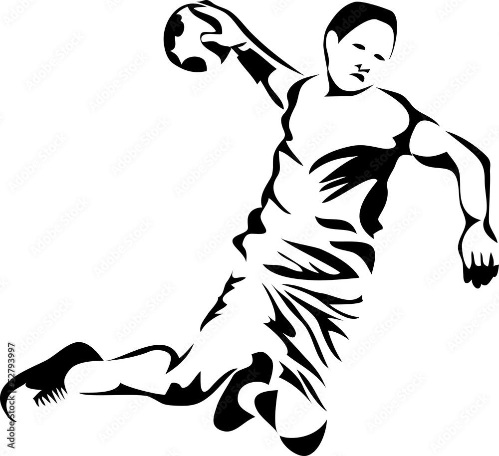 Foto-Vorhang - handball player