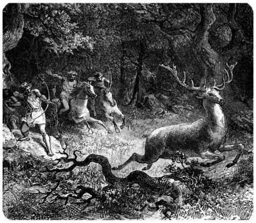 Fotografia Barbarians : Hunting a Deer