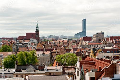 Fototapeta Wrocław widok z góry obraz