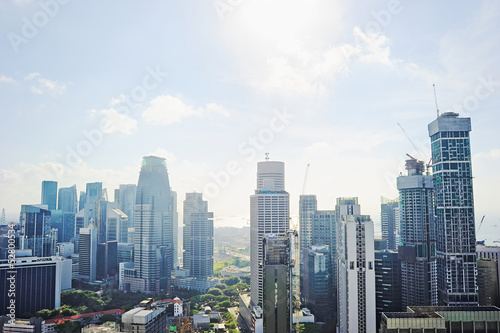 Photo  Singapore skyscrapers