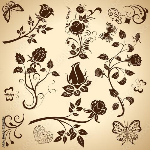 roza-sztuka-wektor-wzor-elementow