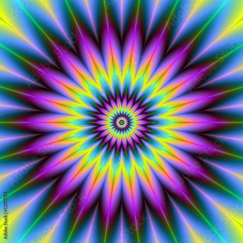 Spoed Foto op Canvas Psychedelic Daisy Wheel