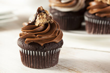 Homemade Chocolate Cupcake Wit...