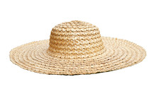 Straw Hat Side View Isolated O...