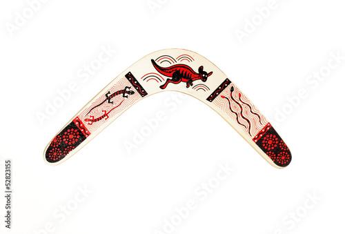 Платно boomerang isolated on white background