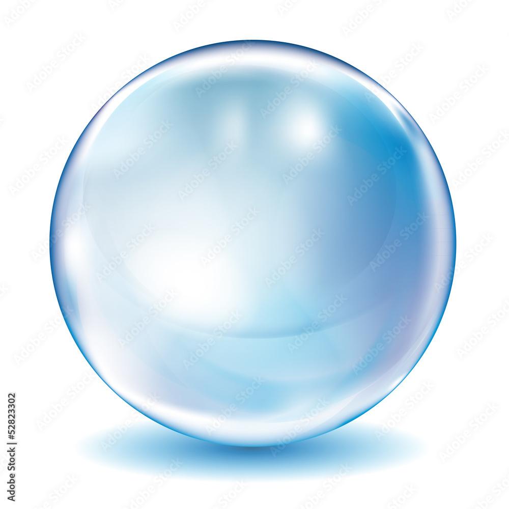 Fototapeta bulle bleue