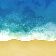 Sea Beach Vector Background