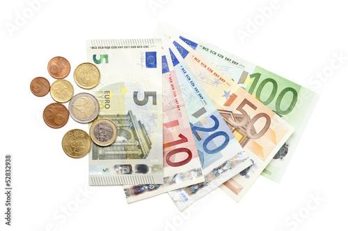 Euro Münzen Und Scheine 5 Euro Neu Acheter Cette Photo Libre De