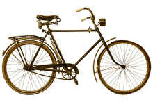 Retro Styled Image Of A Nineteenth Century Bicycle