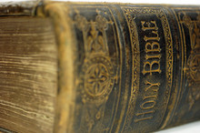 Spine Of An Old Ancient Holy Bible