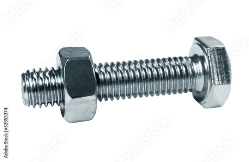 Bolt, screw the nut on it