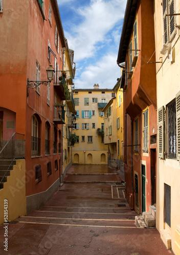 Fototapeta schody  nice-domy-na-starym-miescie