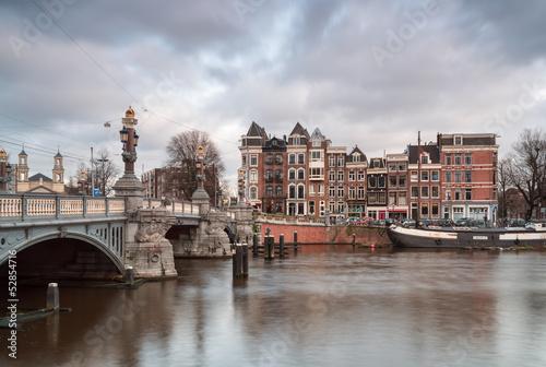 Photo Bridge and achitecture in Amsterdam