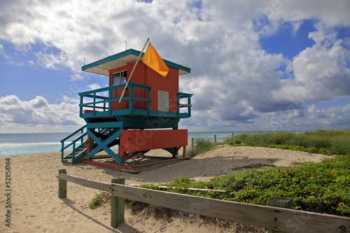 Keuken foto achterwand Verenigde Staten Lifeguard Stand, South Beach Miami, Florida