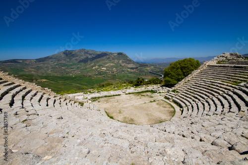 Fotografie, Obraz  Ancient ruin of the greek theater, Segesta