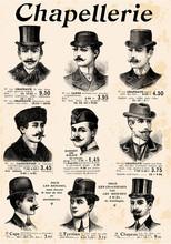 9 Gentlemen With Hat & Mustache
