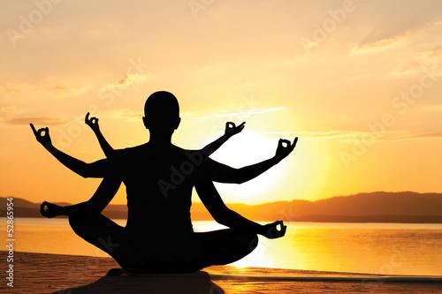 Fotografía  Yoga sunset