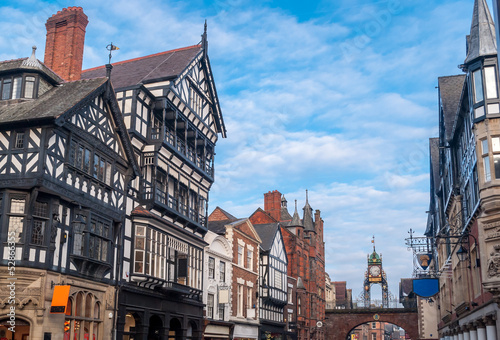 Canvas Print Chester, England, Eastgate clock