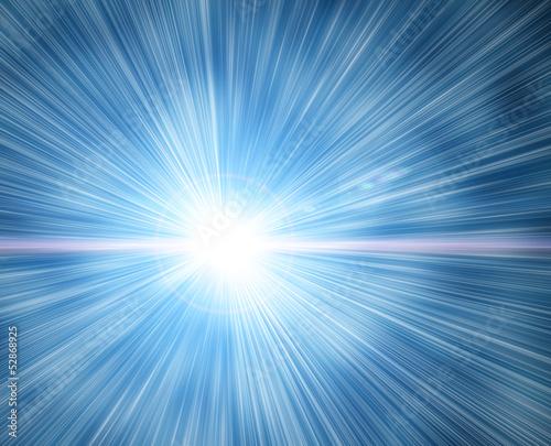 Obraz flash on a blue background - fototapety do salonu