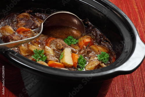 Irish stew in a slow cooker pot Wallpaper Mural