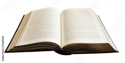 Book isolated on white Wallpaper Mural