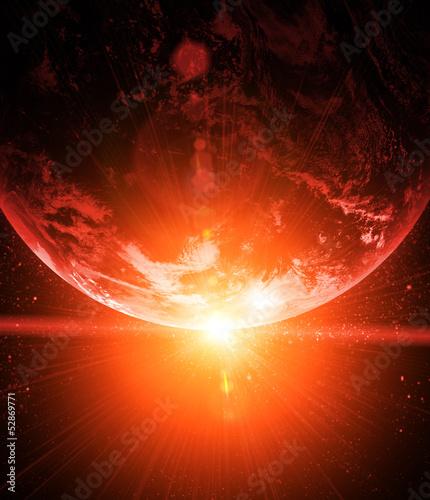 realistyczna-planeta-ziemia-w-przestrzeni