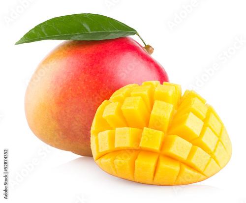 Cadres-photo bureau Fruits mango fruit isolated on white background