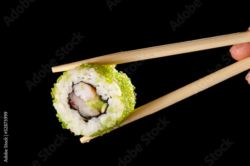 Fotomural  Sushi with chopsticks