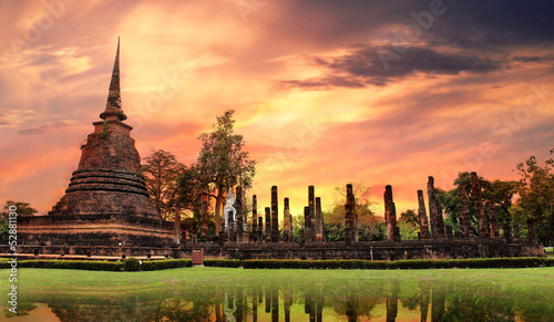 Fotografía Sukhothai historical park, the old town of Thailand