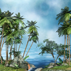 FototapetaPalmy na tropikalnej wyspie