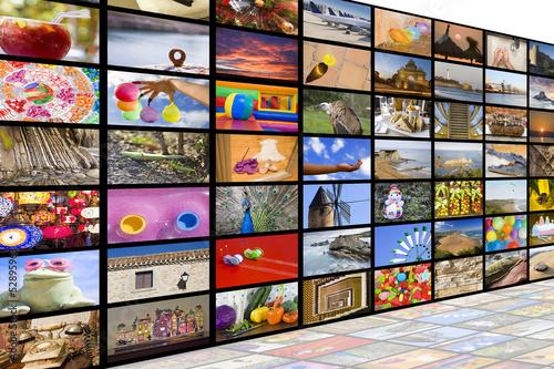 Fotografía  Concepto de emisión de HDTV