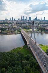 Obraz na PlexiWarsaw panorama, Świętokrzyski bridge