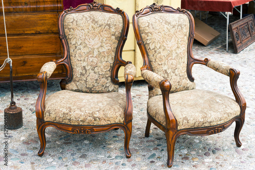 Fotografering  Old armchairs