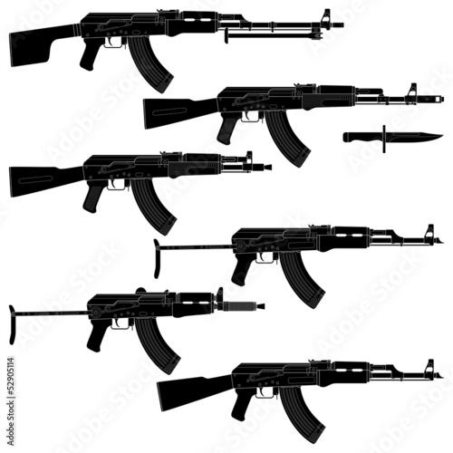 Assault Rifles Canvas Print