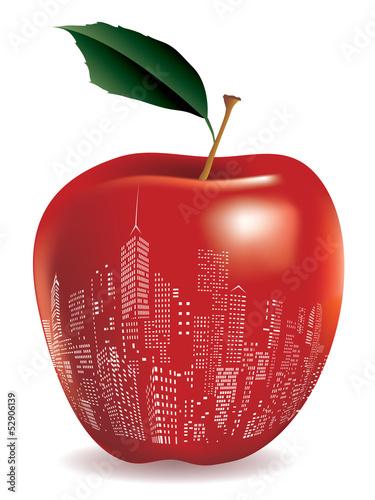 Fotomural red big apple