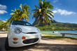 Car trip around tropical island beaches