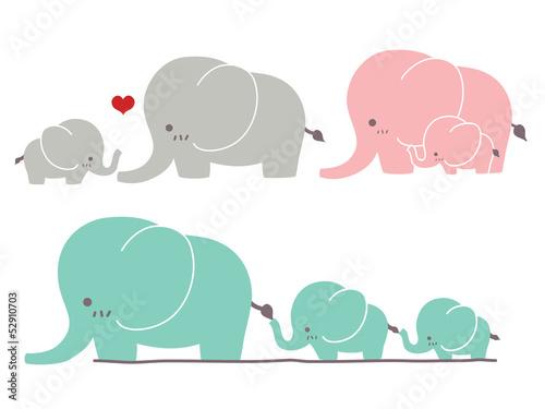 Photo  Cute Elephant - Vector File EPS10