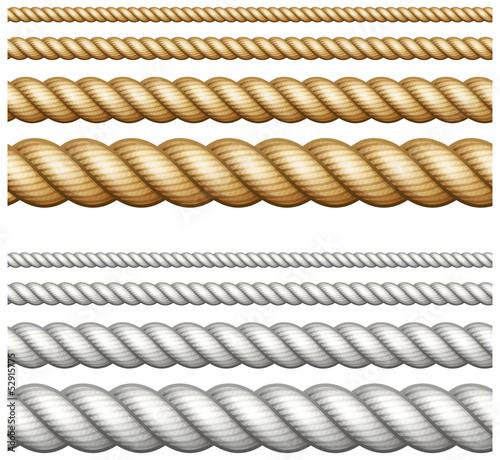 Fotografija  Set of ropes on white