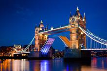 Tower Bridge In London, The UK...