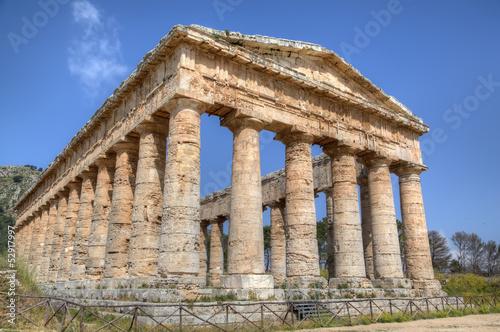 Doric Temple in Segesta, Sicily, Italy Canvas-taulu
