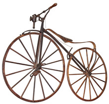 Old Wooden Bicycle With Pedals...