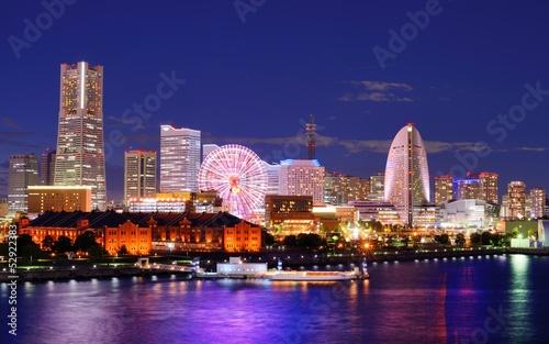 Poster Tokyo Yokohama, Japan Skyline